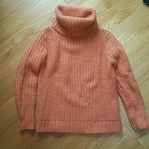 Funnel neck heavy sweater